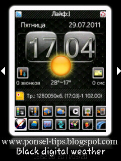 Black digital weather